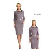 Платье трикотажное АРТ12С655, м655, р48-52 фото