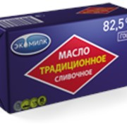 Масло сл-сливочное несоленое Традиц.ЧК 82,5%,450гр.*20 (Экомилк) фото