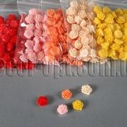 Розы акриловые малые 1см/50шт 5296 фото