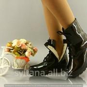 Женские ботинки с мехом код 12177 фото