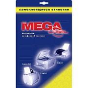 Этикетки самоклеящиеся ProMEGA Label 210х297мм,80г белая глянцевая(25л/уп) фото