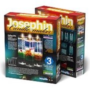 """Гелевые свечи с ракушками Josephin """"Набор №4 """", 3 шт., картон.уп., 274014 фото"""