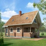 Дома деревянные - Проект дома ПД-5-92 Материал: сосна фото