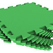 Мягкий пол универсальный 33х33см, зеленый, 1кв.м (Экополимеры) фото