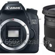 Фотоаппарат Canon 70D (WiFi) + Sigma 17-70 f/2.8-4 DC Macro OS HSM Contemporary фото