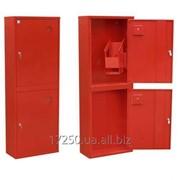 Шкаф пожарный двухстворчатый с полкой 1200х600х230м фото