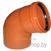 Колено канализационное 160/45 оранжевое фото
