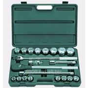 Набор ТЕВТОН Автомобильный инструмент хромированное покрытие, 24 предмета '8-27587-H24 фото