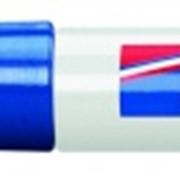 Перманентный маркер, клиновидный наконечник, заправляемый, 1-5 мм Синий фото