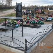 Облагораживание могил ( плитка , бордюр , ограды , цветной щебень и тд ) фото