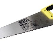 Ножовка столярная 450 мм, 7TPI MAX CUT, каленый зуб, 3-D заточка, полированная Mastertool 14-2045 фото