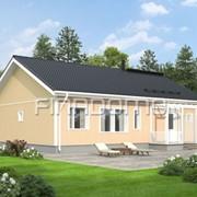 Панельно каркасный финский дом Optimi 127-13 фото