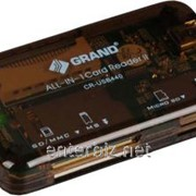 Кардридер Grand (CR-USB440) All-in-1 коричневый USB, код 68372 фото