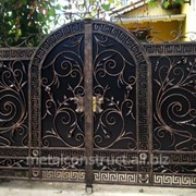 Ворота ажурные из кованого железа №53 фото