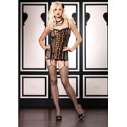 Платьице с леопардовой вставкой L-81280 фото