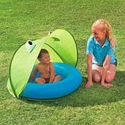 Бассейн круглый с тентом Play Pool with Twist'n Fold Tent фото