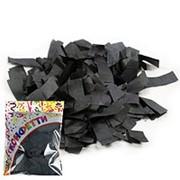 Конфетти бумажное Прямоугольники черные 2*5см 100гр фото