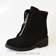 Замшевые зимние женские ботинки Kluchini 3801 фото