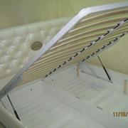 Изготовление кроватей с металлическим ламельным блоком,изготовление кроватей на ламелях,кровать МИСС ШАНЕЛЬ,изготовление кроватей по размерам заказчика,изготовление двуспальных кроватей,изготовление кроватей из кожи,изготовление кроватей Львов фото