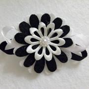 Брошь цветок с фетра ручной работы фото