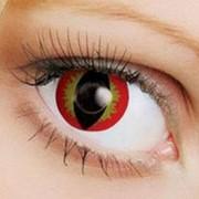 Линзы Fusion Fancy дьявольский глаз, цветные карнавальные, декоративные, клубные, театральные. фото