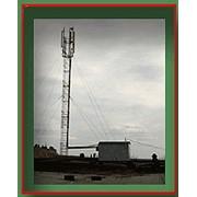 Мачта для операторов мобильной связи прутковая 4-х гранная высота от 24м до 79м сечение по оси 760*760 фото
