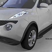 Пороги Nissan Juke 2011-2016 (алюминиевые Topaz) фото