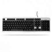 KB-06xe Genius USB клавиатура, Цвет: Серебристо-чёрный фото