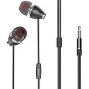 Наушники вкладыши с микрофоном Hoco M28 Ariose Black, мобильная гарнитура, черные фото