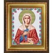 Икона ручной работы Святая Ева вышитая бисером фото