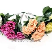 """Цветок искусственный """"Роза букет с гипсафилой КР80012"""" фото"""