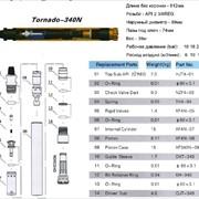 Пневмоударники высокого давления с коронками Торнадо, инструмент для пневмоударного бурения фото