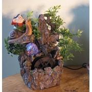 160 Фонтан гномы садовый без подсветки 25 см фото