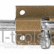 Задвижка накладная для окон и мебели ШП-40 КМЦ, цвет коричневый металлик/цинк, 40мм Код:37753-40 фото