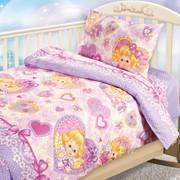 """Постельное белье для новорожденных ясельный комплект из бязи """"Ангелочки"""" фото"""