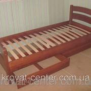 Кровать Марта (190\200*90) сосна, ольха, дуб. фото