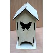 """К-03002 Заготовка для декупажа """"Чайный домик с бабочкой"""" фото"""
