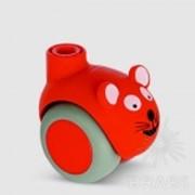 Колесо мебельное, красная мышь 5520 PJI 050L51-10 SMILES CHAT фото