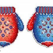 Набор для вышивания Морозная рукавичка фото