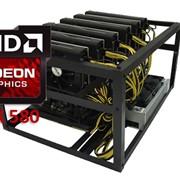 Ферма GYGABYTE AMD 6xRX580 4Gb фото