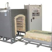 Печь камерная высокотемпературная с выдвижным подом фото