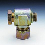 Резьбовое соединение, бесдроссельное, под углом 90 тградусов, резьба метрическая, бывает с уплотнением фото