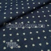Ткань Джинсовая ткань сердечки (рубашечная) 5639 фото