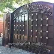 Ворота металл для загородного дома №28 фото