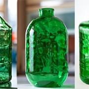 Стеклянный бутыль твист фото