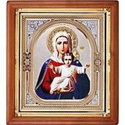 Икона аналойная Азъ Есмь Божья матерь, риза, 23х26 фото