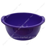Таз полиэтиленовый для пищевых продуктов 15л круглый цветной Горизонт №438360 фото