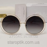 Женские солнцезащитные очки Chloe 5CE 114 темно серая линза градиент фото