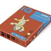 Бумага цветная iq color A4, 80г/м2, zr09-кирпично-красный 500л. ZR09-80 фото