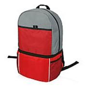 Рюкзак-холодильник Sea Isle, красный/серый фото